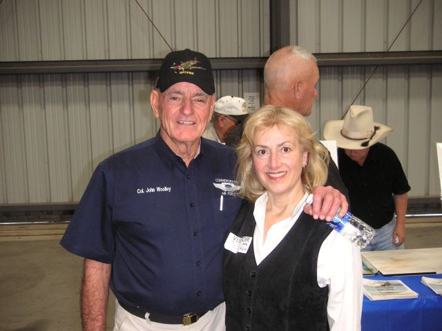 Col. John Woolley and Terry Tegnazian