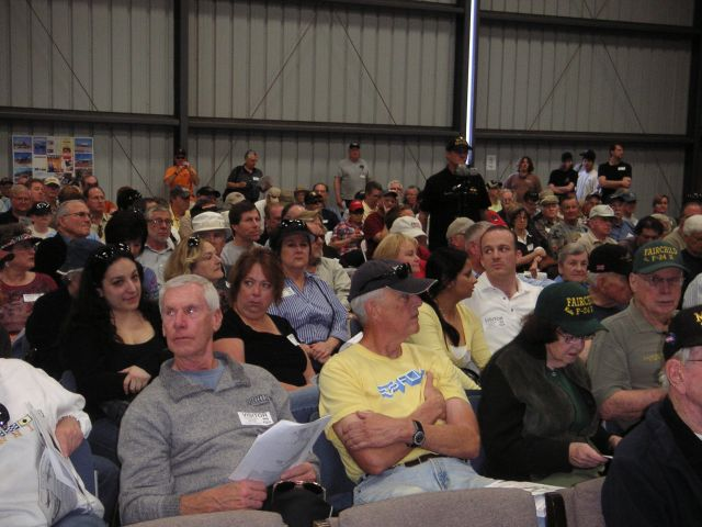 Some of the standing-room-only audience