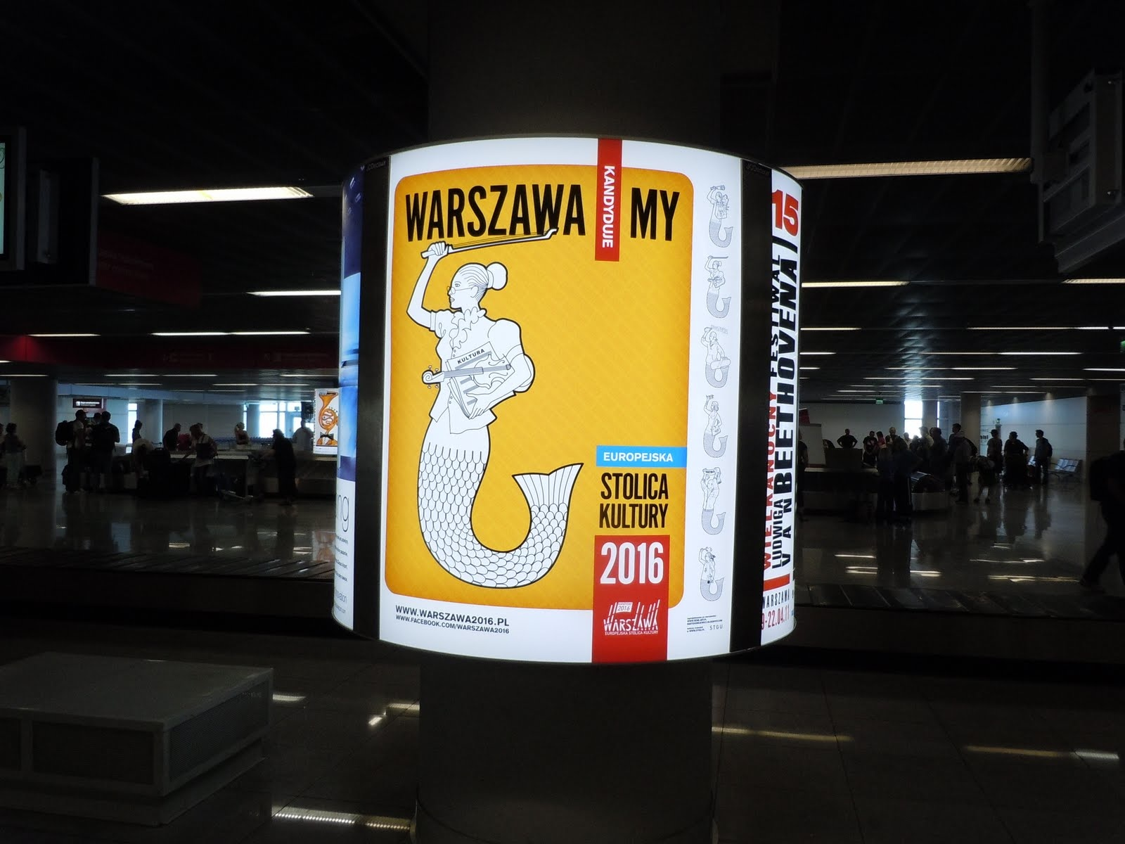 First Mermaid Sighting...at the Warsaw Airport